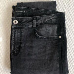 Black Distressed Zara Jeans